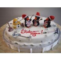 Новогодний торт - Пингвин