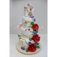 Торт свадебный на заказ - Молодожены