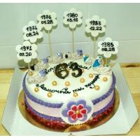 "Торт для мамы - ""Цветочная поляна"""