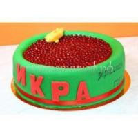 Торт на день рождения - Красная икра