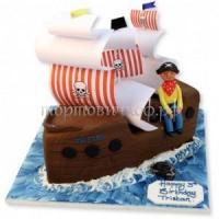 Детский торт на заказ фото - Пират