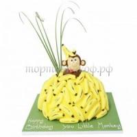 Тортик на день рождения - Обезьяна с бананом