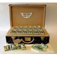 Заказать торт на день рождения - Чемодан с деньгами