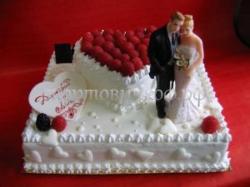 Свадебный торт на заказ в СПб - Сердце влюбленных