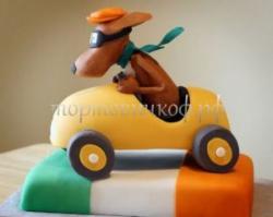 Заказать торт на день рождения - Собака гонщик