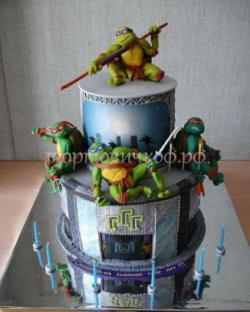 Заказать торт на день рождения - Ниндзя черепашки