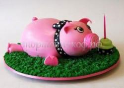 Заказать торт на день рождения - Свинья