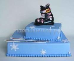 Заказать торт на день рождения - Лыжник